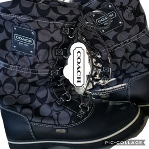 Coach signature snow boots water resistant